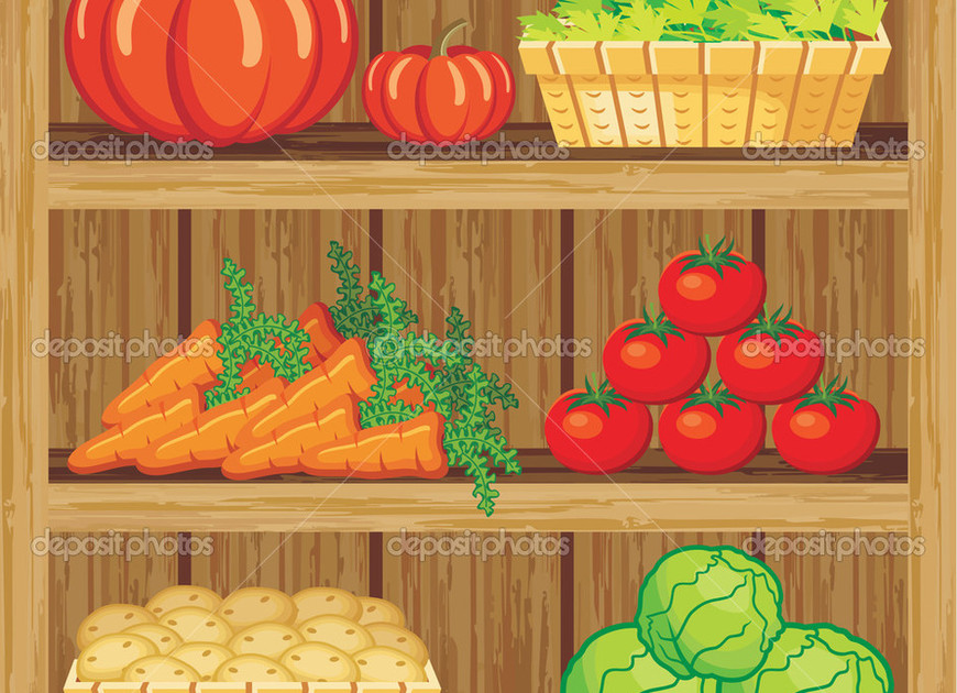 View depositphotos 33414593 supermarket. shelfs and vegetables